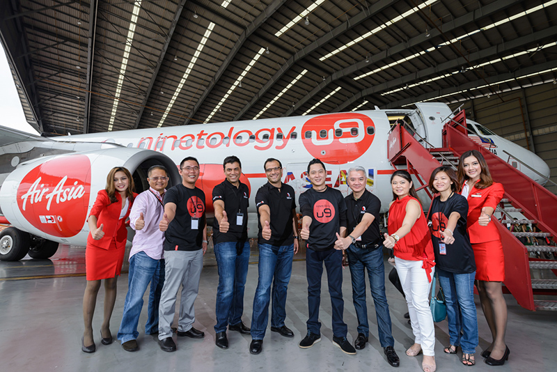Ninetology and Qualcomm Unveils AirAsia Aircraft Livery