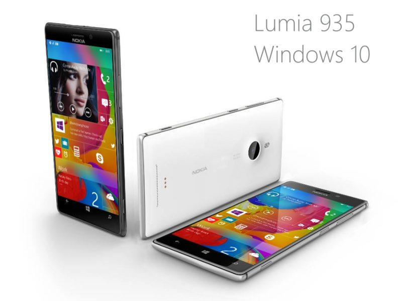 Lumia 935 Windows 10 First Render