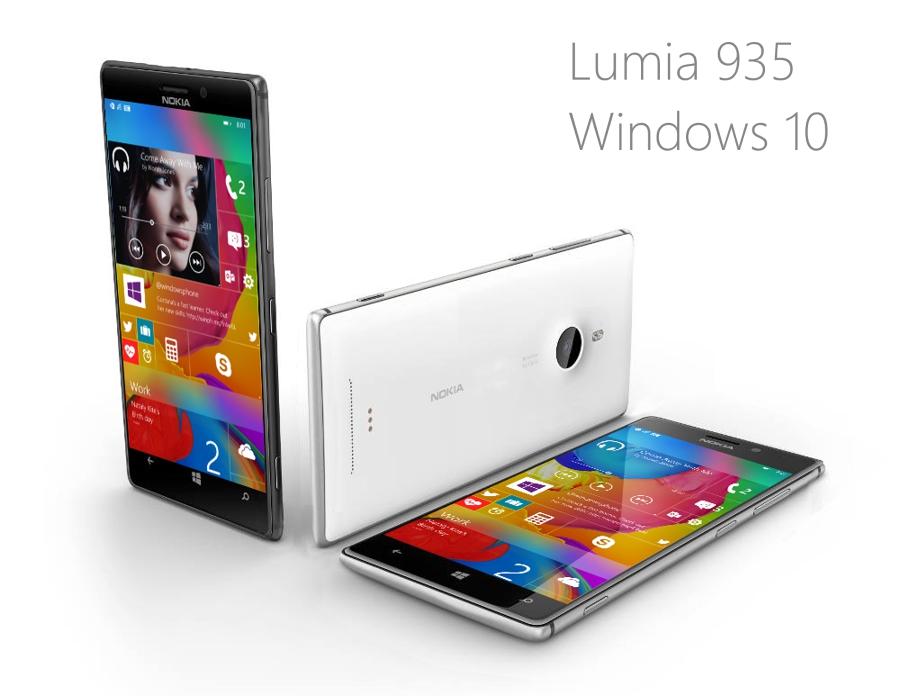 Lumia 935 Windows 10 First Render