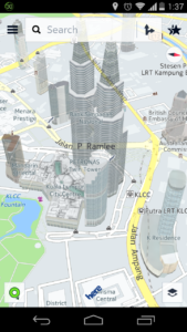 Maps with 3D buildings - HERE Beta