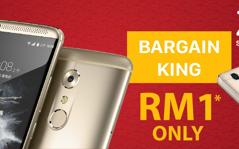 Win ZTE Axon7 For Only RM7 With CNY Bargain King Online Contest