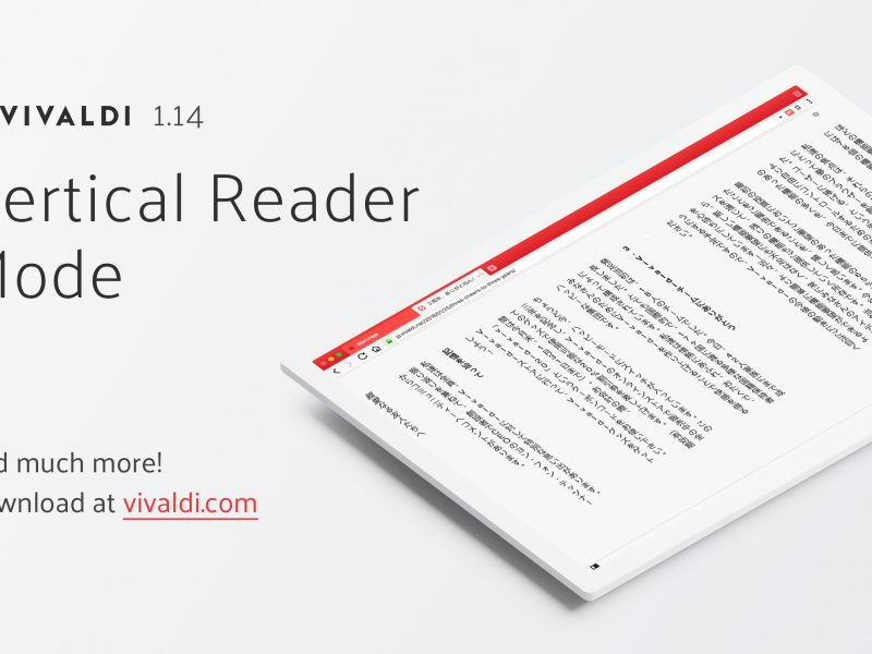Vivaldi Introduces Vertical Reader Mode, A First For Browsers