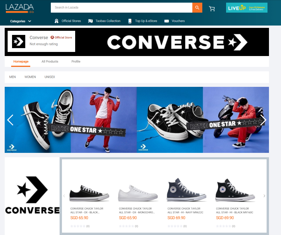 Converse Online Store