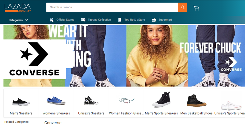 036502d7c612e3 Converse Official Store Arrives Via Lazada in Malaysia and Singapore