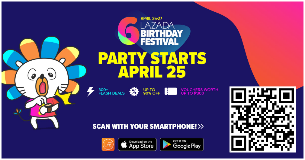 Lazada Shakin' Deals – Shop, Shake and Win on 6th Birthday Festival Sale