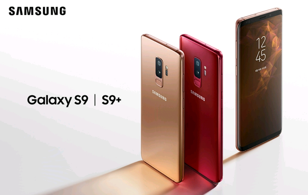 Galaxy S9 and S9+ Gets New Colours – Sunrise Gold and Burgundy Red