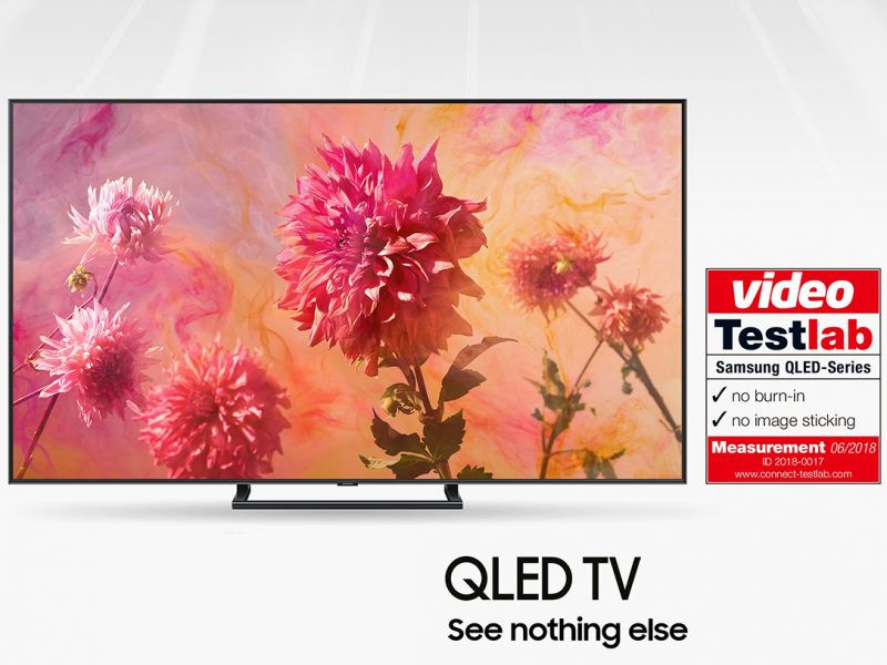 Certified by Testlab: No Burn-in with Samsung QLED TV