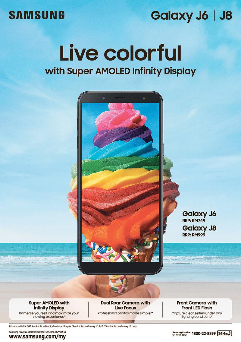 Samsung Galaxy J8 and J6