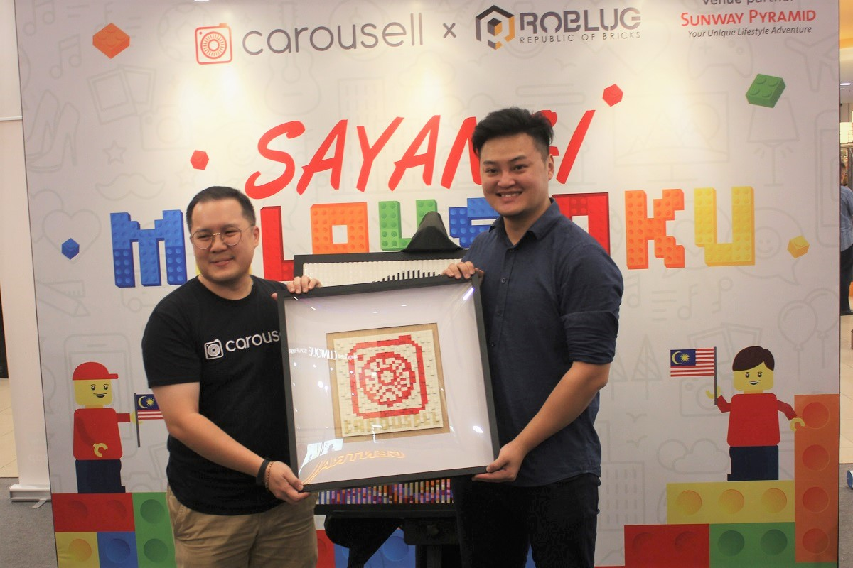 Tun M and Tun Siti's LEGO Mural Unveiled at Carousell LEGO Art Exhibition