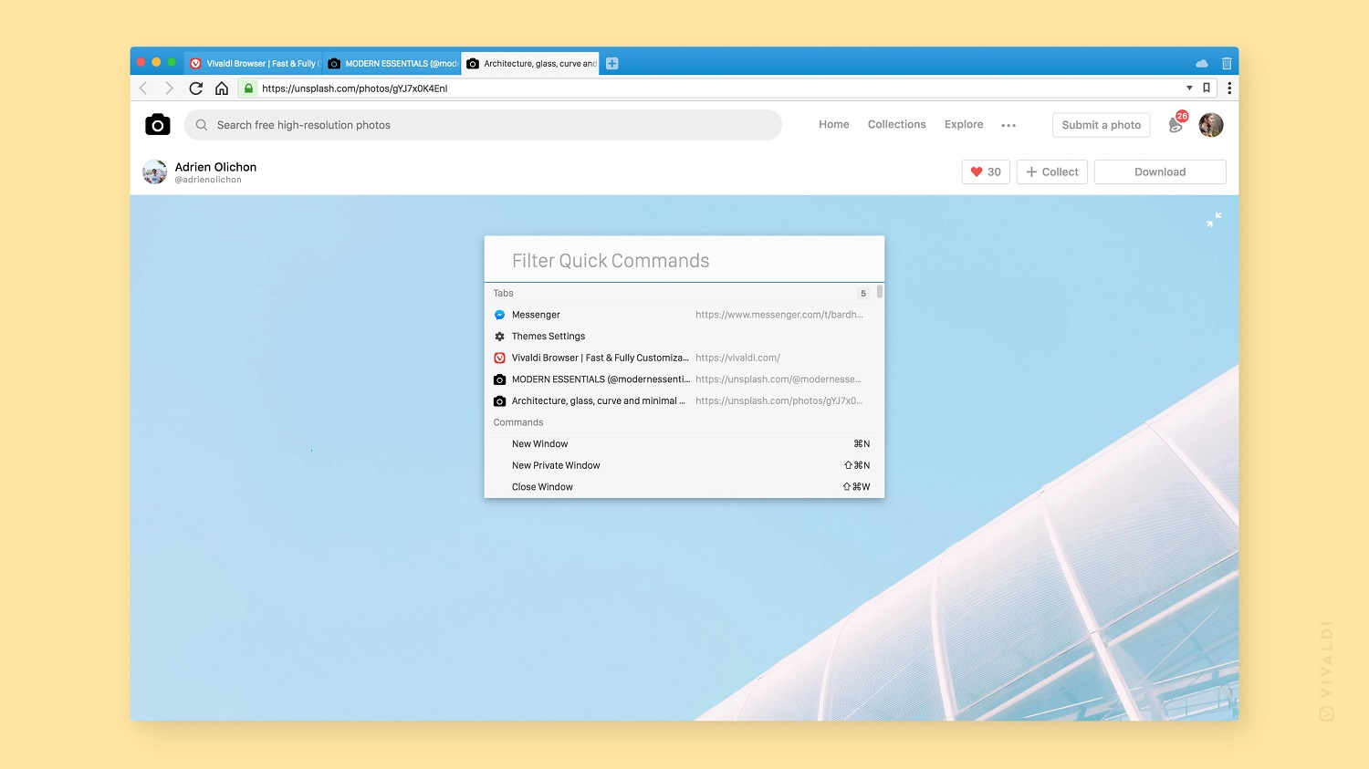Vivaldi 2.0 browser