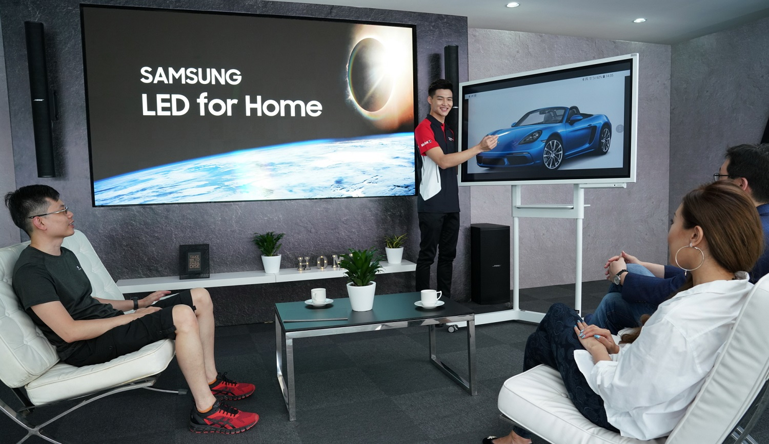 Porsche Experience and Samsung