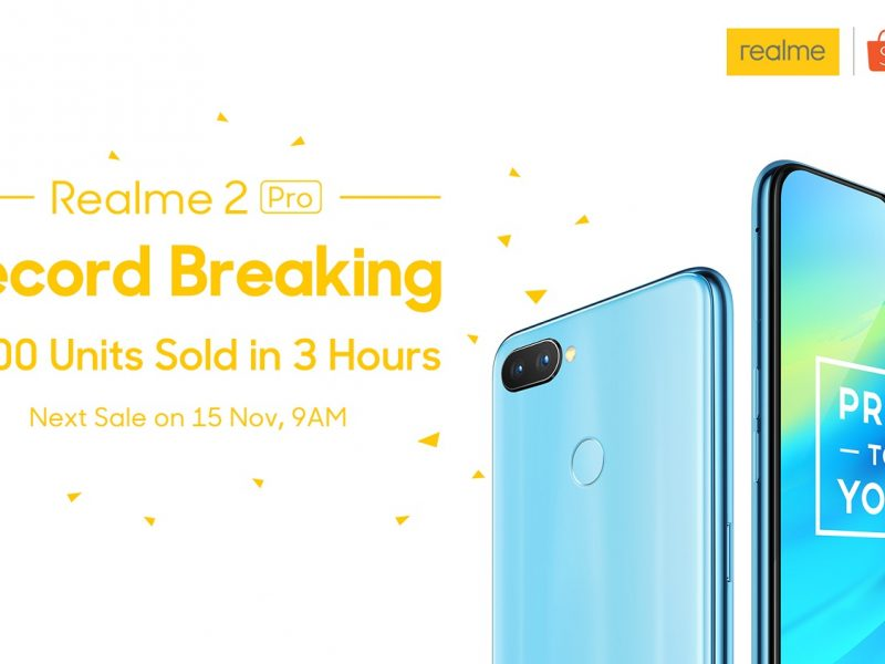 "Realme 2 Pro was the ""Best-selling Item"" on Shopee 11.11 Sale"