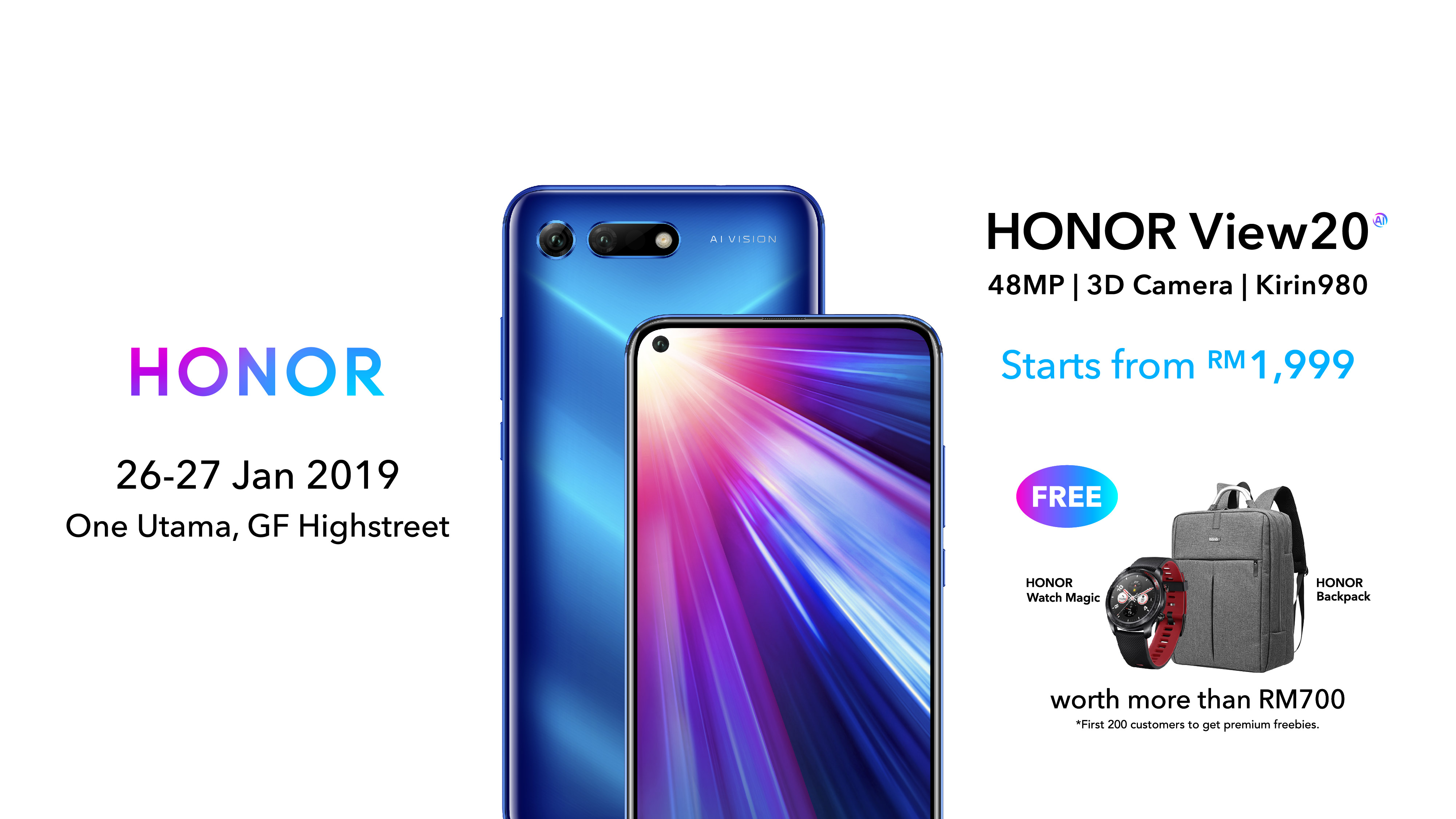 Honor View20 Sets New Standards With World's First Technologies