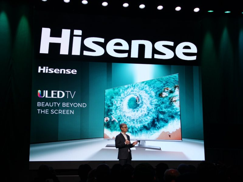 Hisense Debuts TriChroma Laser TV and Super-thin Sonic One TV