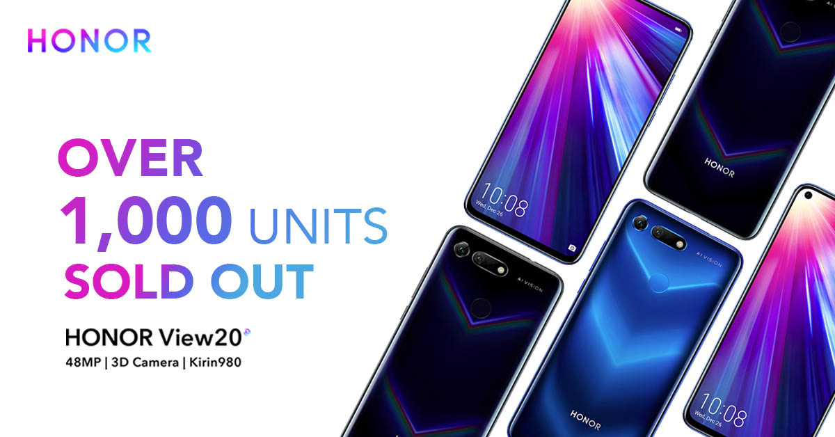 More Than 1,000 Units of the HONOR View20 Sold!