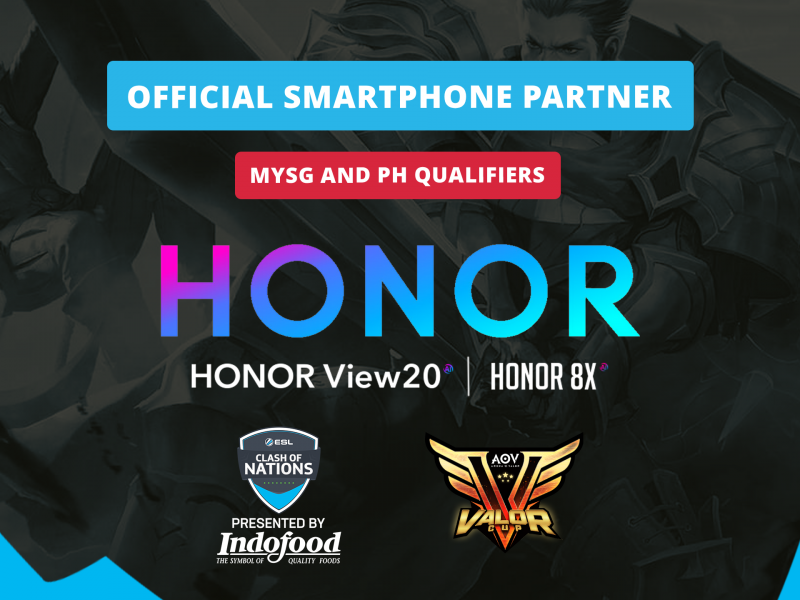 HONOR Named Official Smartphone Partner for ESL Clash of Nations – Arena of Valor