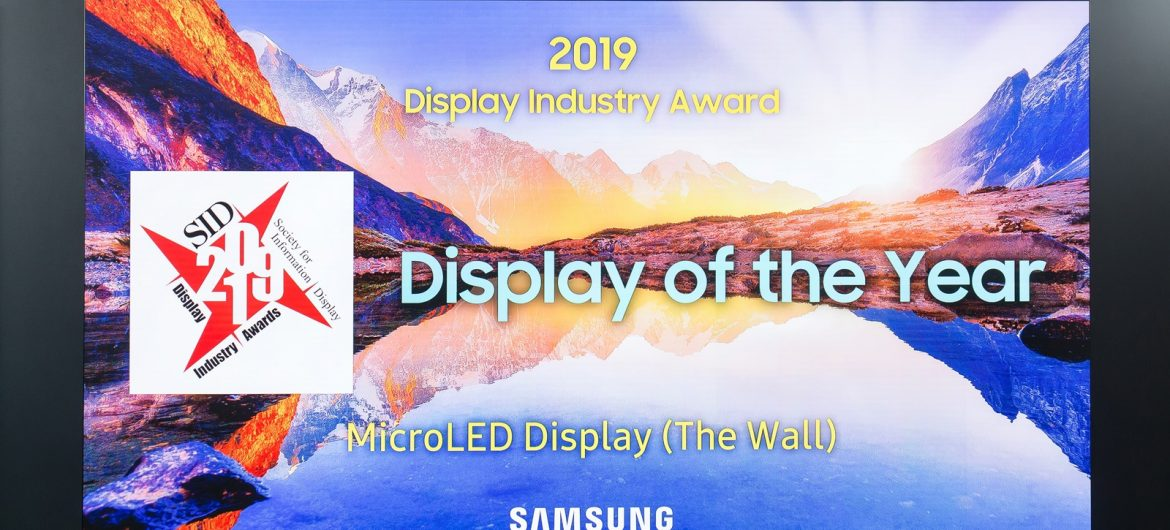 """""""The Wall"""" by Samsung Wins Coveted Display Industry Award"""