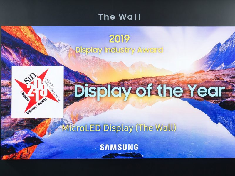 """The Wall"" by Samsung Wins Coveted Display Industry Award"