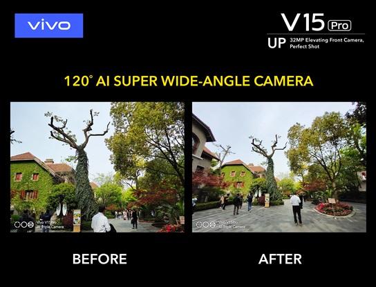 Vivo V15 Pro Super Wide Angle Camera Elevates Your
