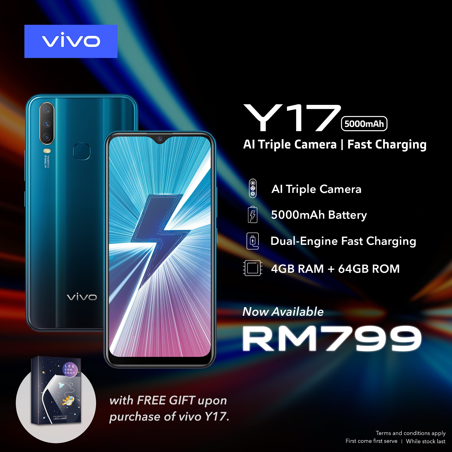 e98b87e46af Vivo Y17 With Large Capacity 5000mAh Battery Officially Goes On Sale