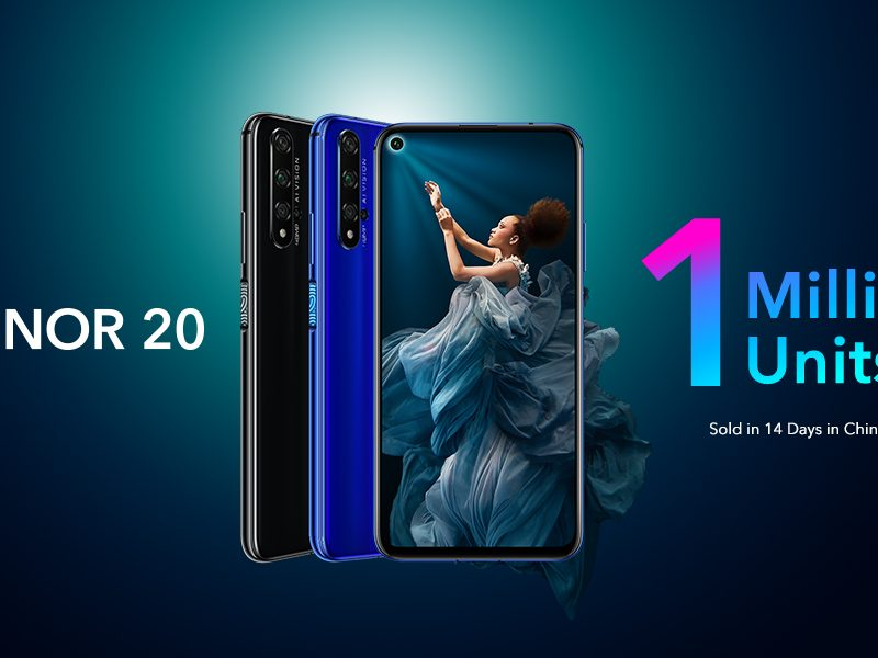 HONOR 20 Global Availability Continues Record-breaking Sales