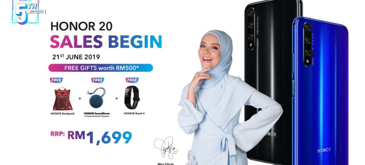 HONOR 20 Will Go on Sale June 21