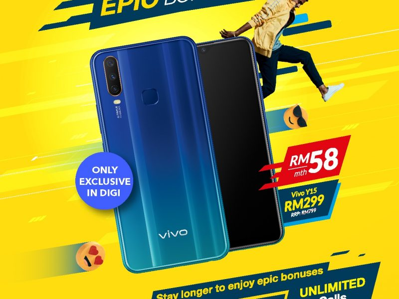 Vivo Y15 Available For Only RM299 Exclusively With Digi Postpaid 58 Plan