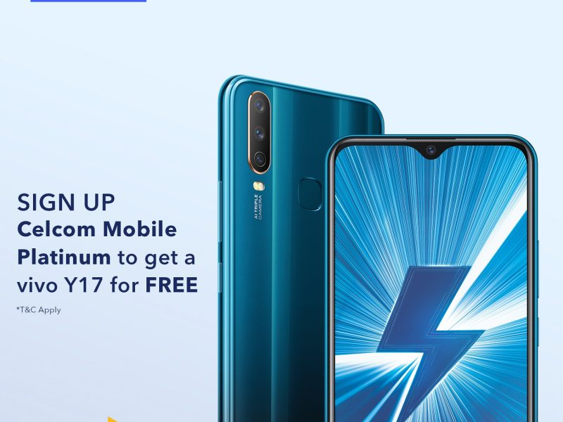 Free Vivo Y17 for E-Sports Gamers With Celcom Platinum/Plus Plans