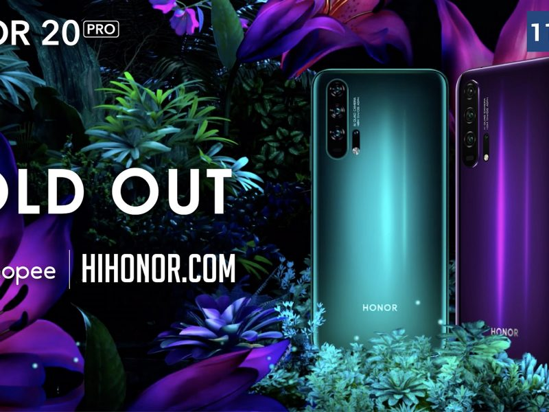 HONOR 20 PRO Sold Out Online Within First Day of Sale!