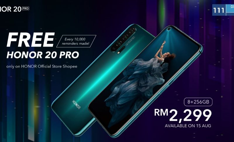 HONOR 20 PRO Arrives in Malaysia on 15 August