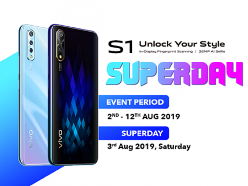 Vivo S1 Superday Sale Starts This Weekend at Central i-City, Shah Alam