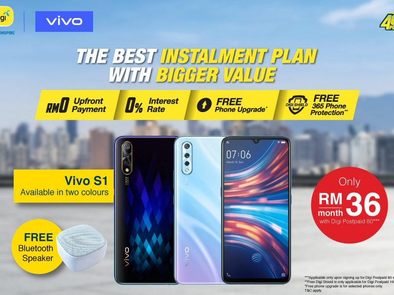 New Vivo S1 Available Only RM36 A Month With DiGi Phone Freedom 365 Package