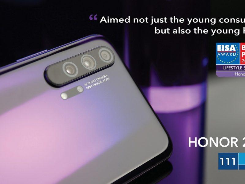 HONOR 20 PRO Awarded EISA Lifestyle Smartphone 2019 – 2020