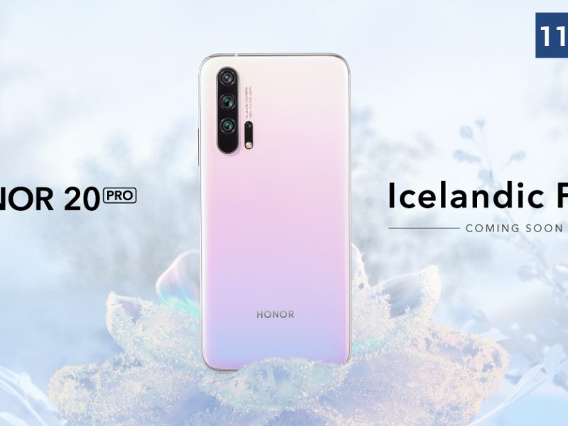 HONOR 20 PRO Gets Frosty with a New Colour – Icelandic Frost