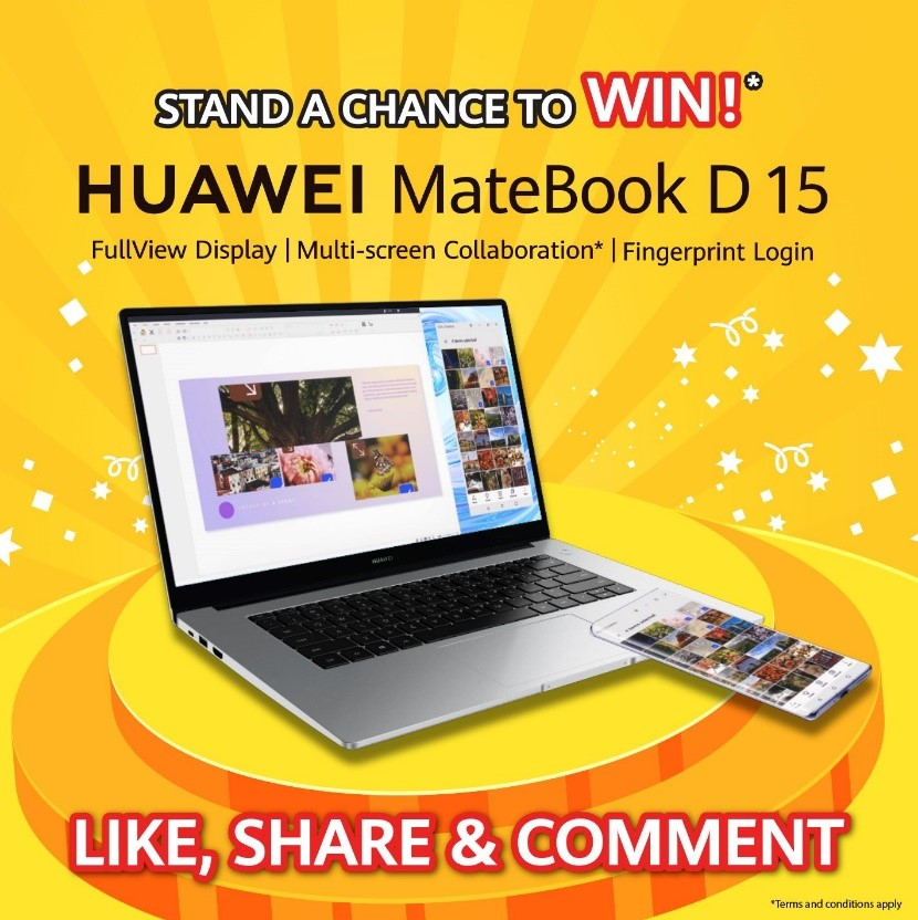 Be in The Running to WIN a HUAWEI MateBook D 15 Worth RM2,499